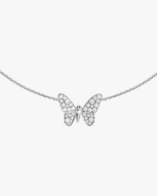 Paved Solo Butterfly Necklace