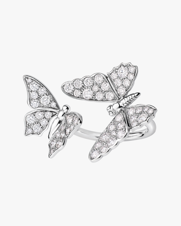 Diamond Duo Butterflies Ring