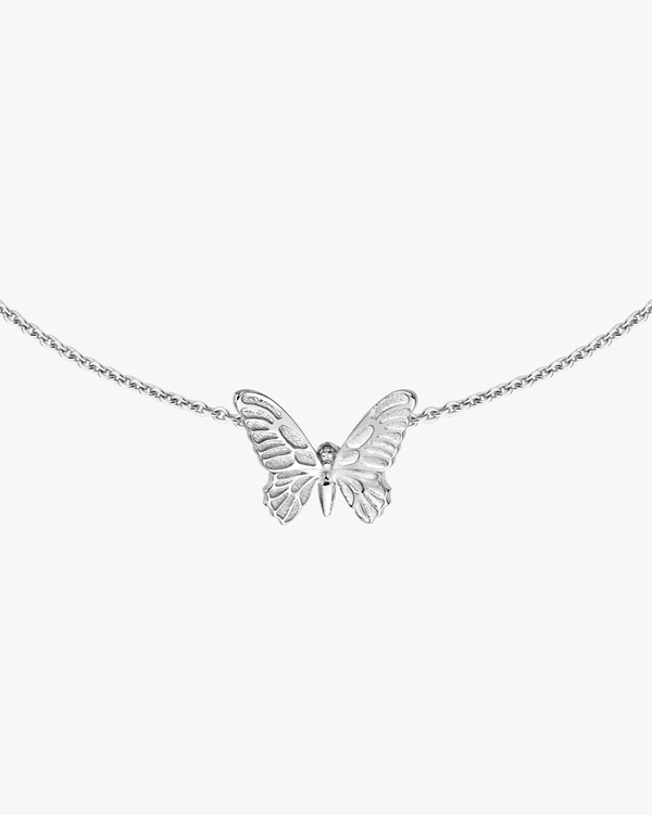 Golden Solo Butterfly Necklace