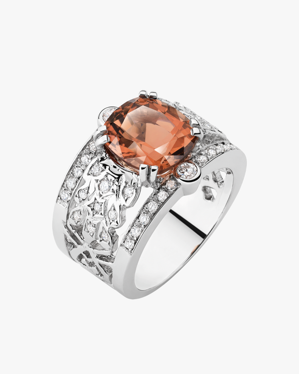 Peach Signet Ring