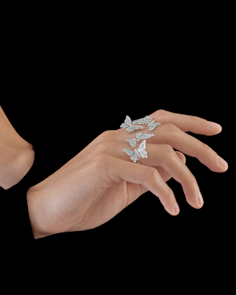 Quatuor Butterflies Ring