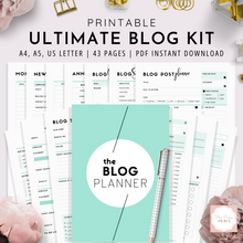 Load image into Gallery viewer, Ultimate Blog Planner | Teal Version