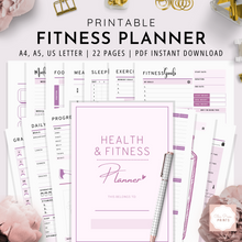 Load image into Gallery viewer, Health and Fitness Planner  | Lavender Pink Version