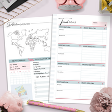 Load image into Gallery viewer, Mini HP, Travel Planner | Teal Version PDF File