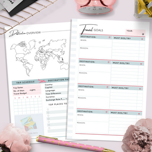 Mini HP, Travel Planner | Teal Version PDF File