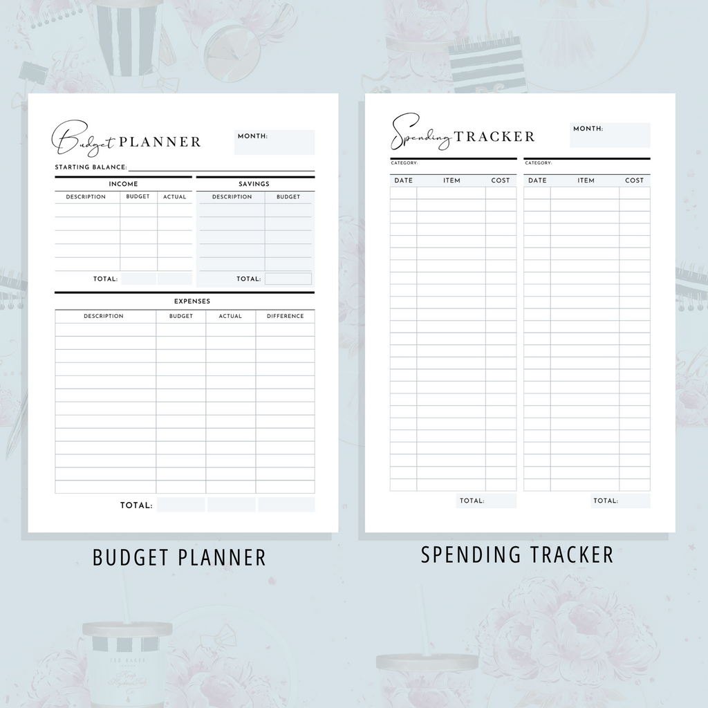 Finance Planner, A5, A4 & US Letter Size Bundle | Girl Boss Version