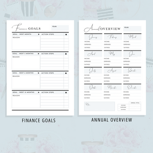 Printable Finance Planner | Girl Boss Version (22-Pages) | PDF Digital Download