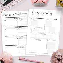 Load image into Gallery viewer, Marketing Campaign Planner, A4, US Letter | Black & White Version