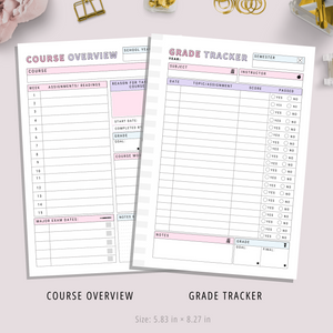 Printable Student Planner | Moxie Version | PDF Digital Download File