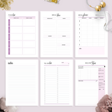 Health and Fitness Planner  | Lavender Pink Version
