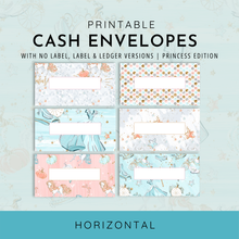 Load image into Gallery viewer, Printable Cash Envelopes Set of 6, Princess Edition, Budget Envelopes, Money Envelopes, Instant Download