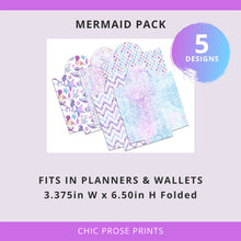Load image into Gallery viewer, Printable Cash Envelopes Set of 5 - Mermaid Pack - Budget Envelopes