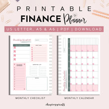 Load image into Gallery viewer, Finance Planner, Printable A5, A6 & US Letter size Bundle | Budgeting Planner