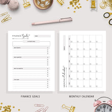 Load image into Gallery viewer, Finance Planner, A5, A6 & US Letter Size Bundle | Black & White Version