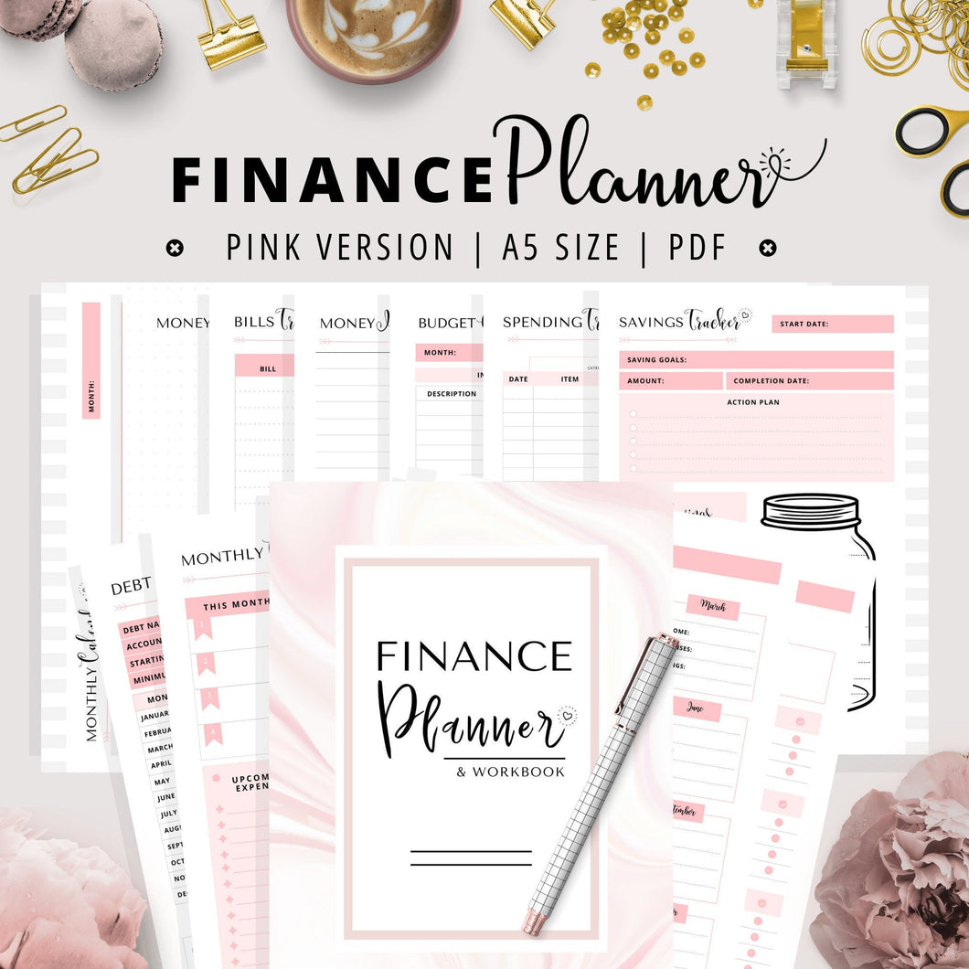 Budgeting Planner, A5 | Pink Version