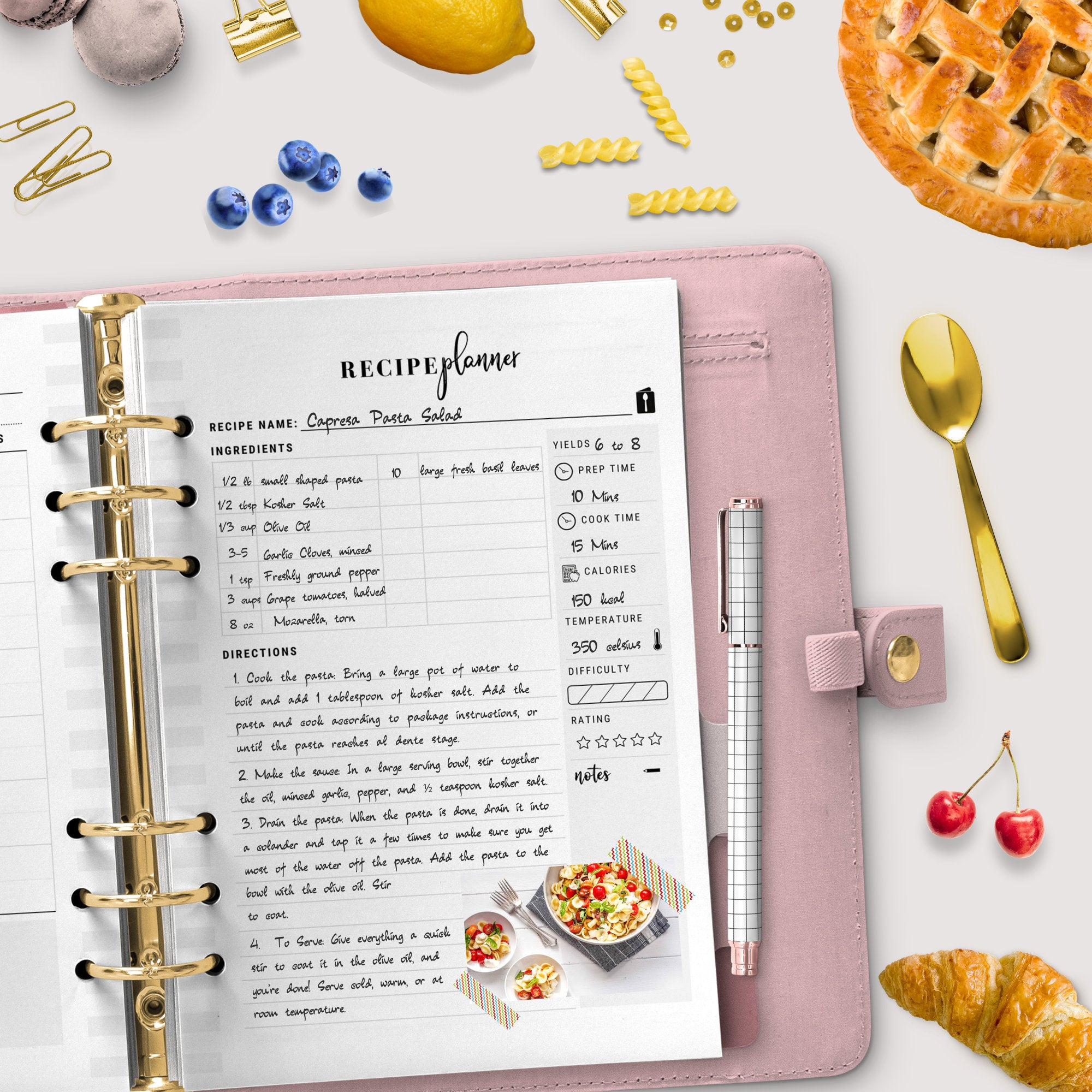 Meal Planner Bundle,A4,A5, US Letter | Weekly Meal Planner, Recipe Planner, Grocery List, Meal Ideas | Instant Download | PDF