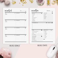 Load image into Gallery viewer, Ultimate Blog Planner | Black & White Version
