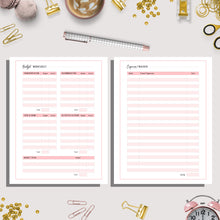 Load image into Gallery viewer, Travel Planner A5 & US LETTER Bundle | Pink Version