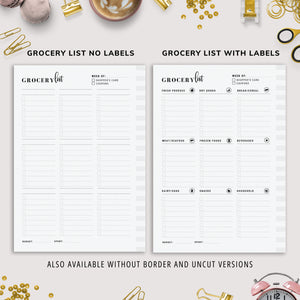 A5, Meal Planner Bundle, Weekly Meal Planner, Recipe Planner, Grocery List, Meal Ideas | Instant Download | PDF