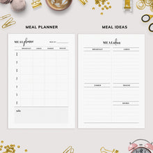 Load image into Gallery viewer, Meal Planner Bundle,A4,A5, US Letter | Weekly Meal Planner, Recipe Planner, Grocery List, Meal Ideas | Instant Download | PDF