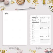 Load image into Gallery viewer, Student Planner Printable | A4, A5, US Letter Bundle | Black & White Version