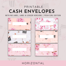 Load image into Gallery viewer, Printable Cash Envelopes Set of 6, Posh Girl Edition, Budget Envelopes, Money Envelopes, Instant Download
