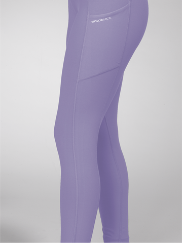 SixDeuce Purple High waist Yoga Leggings with Extra Length Pocket