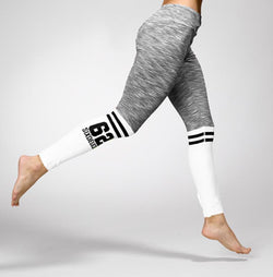 Six Deuce The Runner Leggings, Grey/White