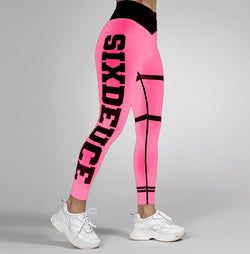 Six Deuce Dance Monkey Leggings, Pink