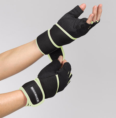 Six Deuce Weight Lifting Gym Gloves Yellow & Black Women's - Six Deuce 62