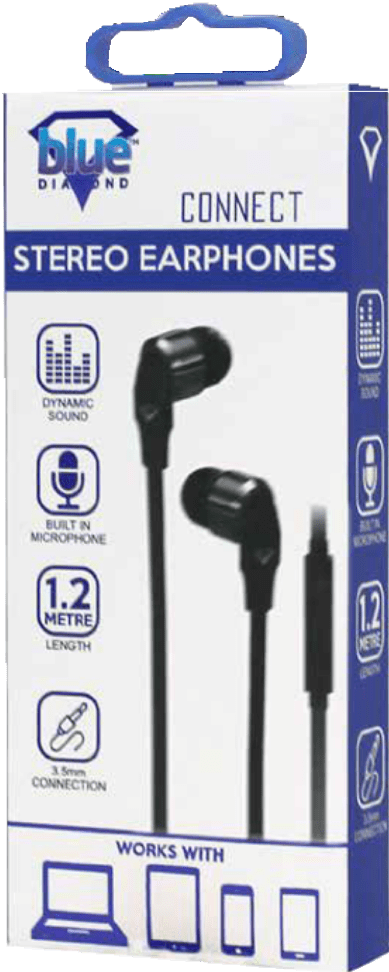 Extra Bass Hands Free Earphone Black - smartspot.ie