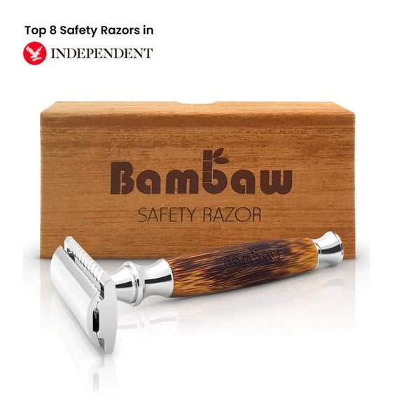 Double Edge Safety Razor - Bamboo & Stainless Steel- Bambaw - smartspot.ie
