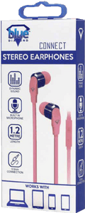 Extra Bass Hands Free Earphone Pink - smartspot.ie