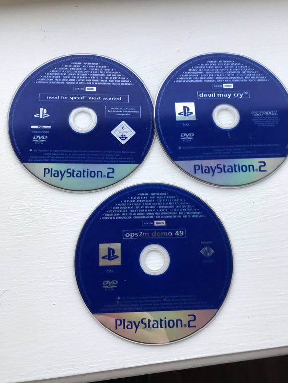 PlayStation 2 Demo Discs (Pack Of Three) PS2 - smartspot.ie