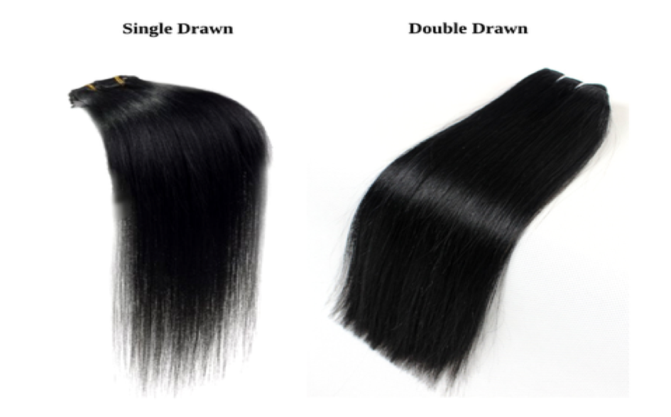Difference between single and double drawn hair extension
