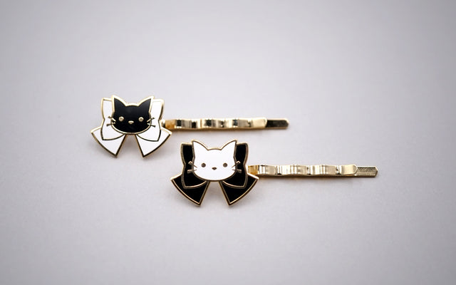 Kitty Hair Pins