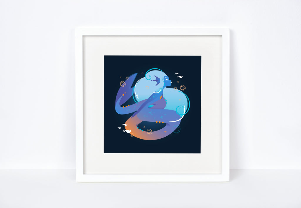 The Wicked Mermaid Art Print