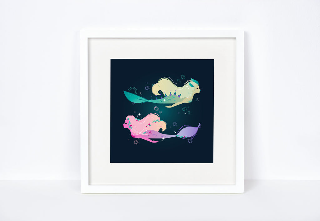 Mythical Mermaid Art Print
