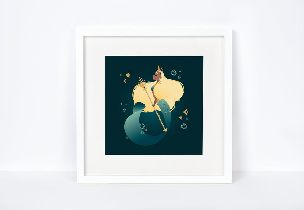 War Mermaid Art Print