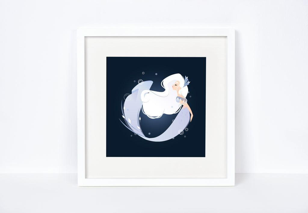 Ice Mermaid Art Print