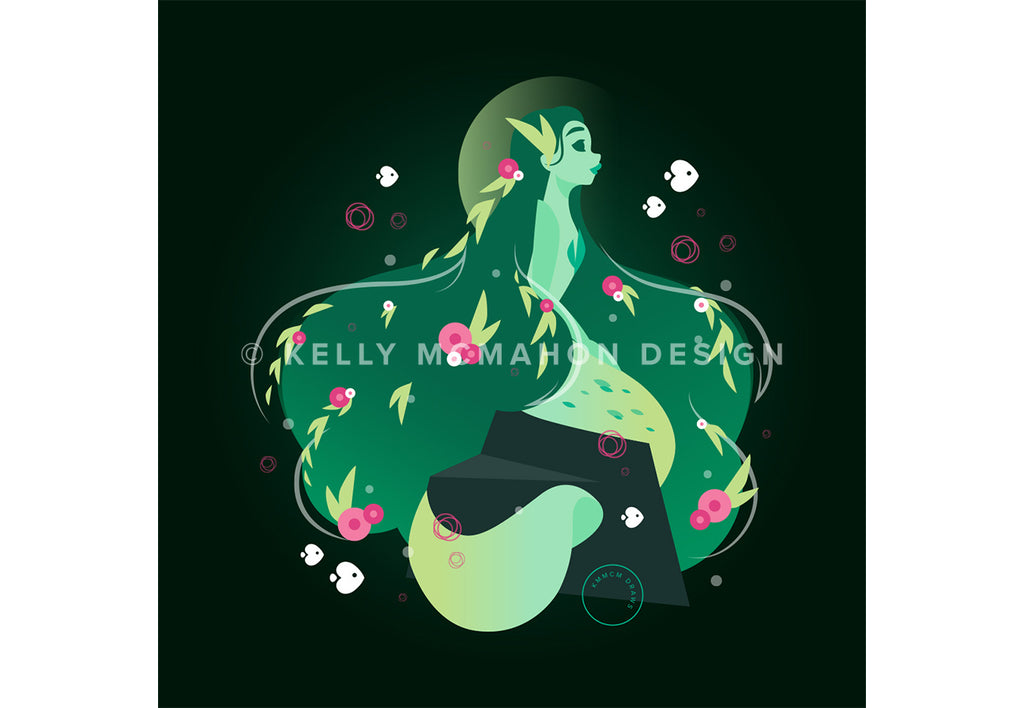 Earth Mermaid Art Print