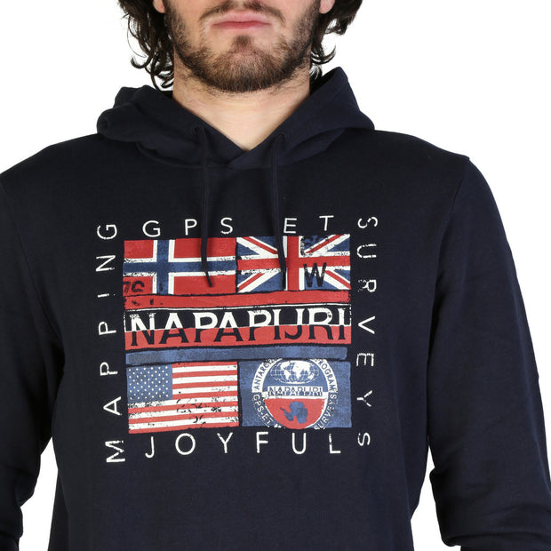 Napapijri - Men flags hoodie - B&B Luxury