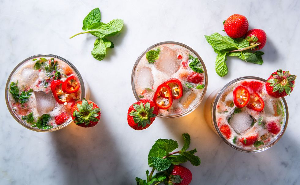 Strawberry jalapeno mint juleep
