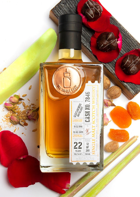Glentauchers 22 year old single malt scotch whisky, bourbon cask matured