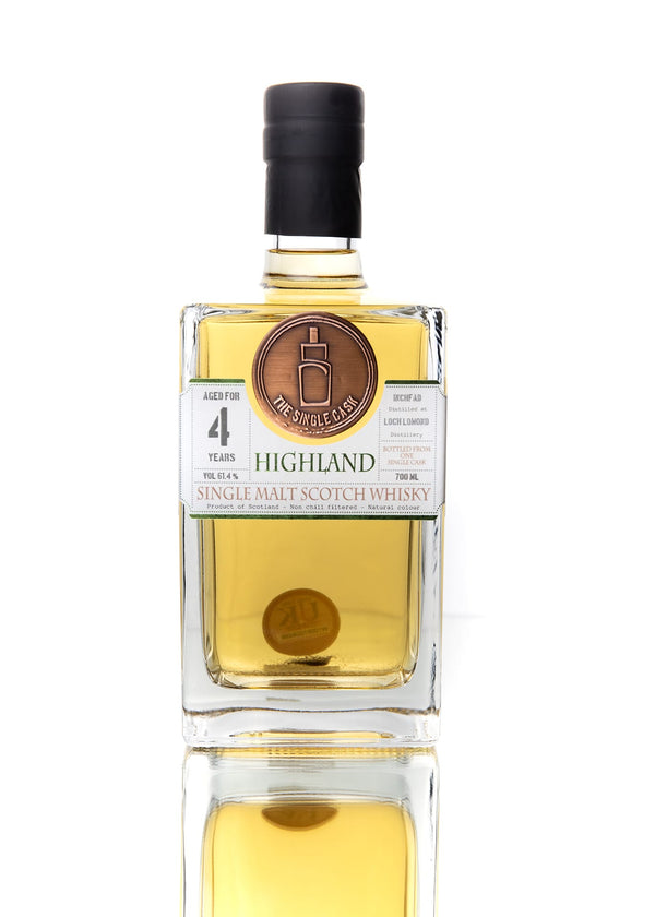 The Single Cask Inchfad 4 Year Single Malt Scotch Whisky