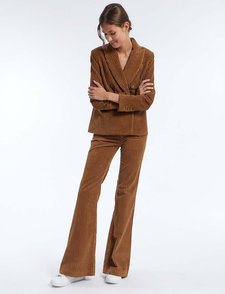 Pantalon Charlotte velours marron
