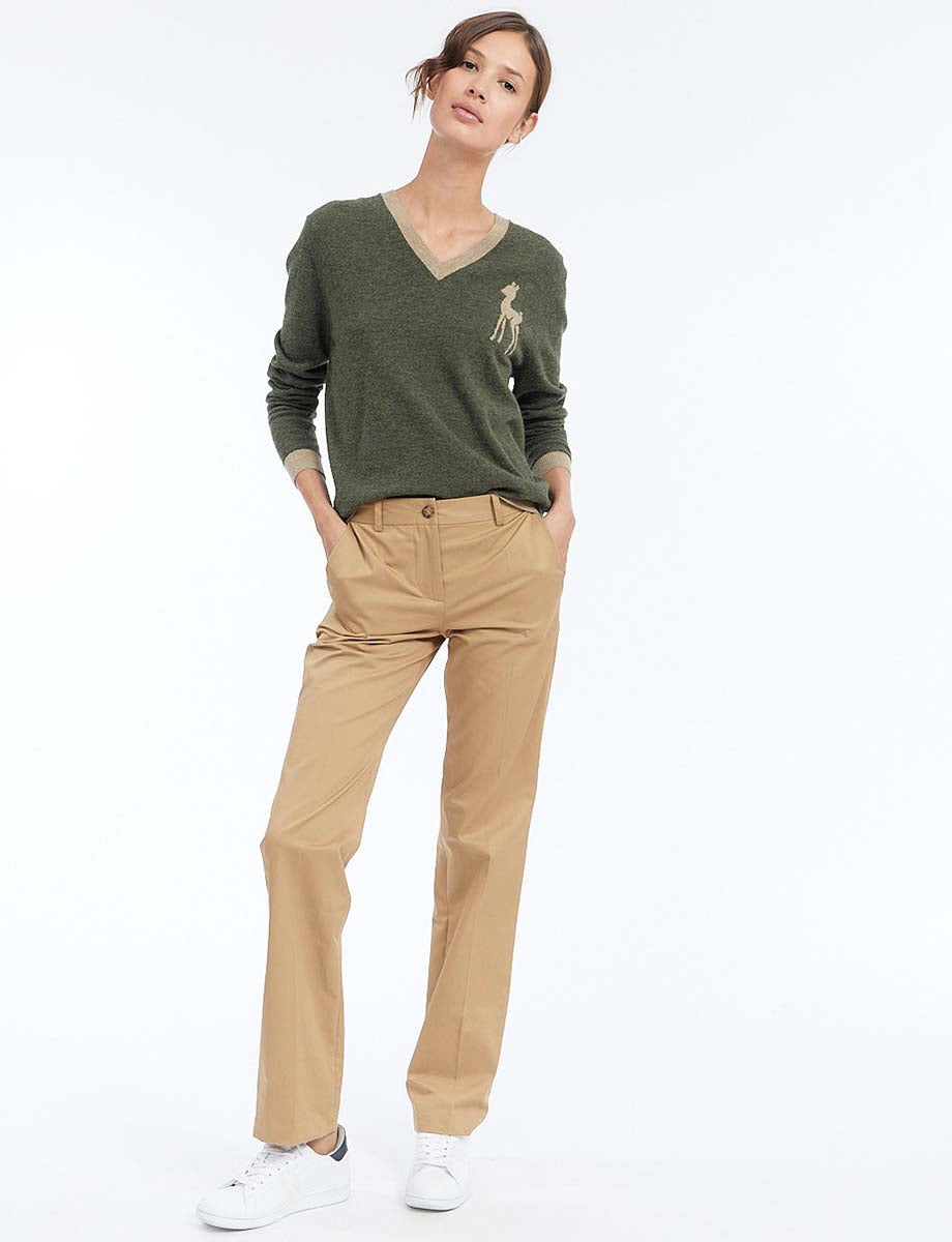 Pantalon Francisco coton beige