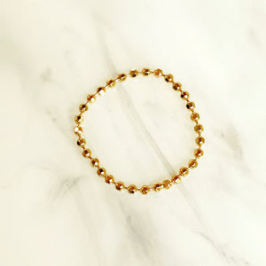 14k Disco Ball Bead Chain Ring