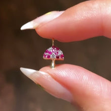 Load image into Gallery viewer, Shroomy Ruby Mushroom Charm