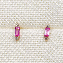 Load image into Gallery viewer, Pink Sapphire Party Stud